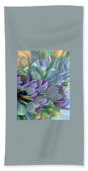 Bath Towel featuring the photograph Beautiful Blues Of Spring - Tulips by Miriam Danar