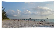 Beautiful Day On Naples Beach Naples Florida Hand Towel