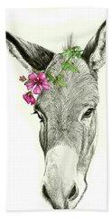 Beautiful Donkey Bath Towel by Heidi Kriel