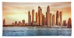 Beautiful Dubai Cityscape Bath Towel