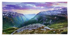 Light In A Valley Hand Towel
