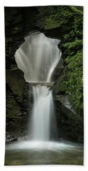 Beautiful Flowing Waterfall With Magical Fairytale Feel In Lush  Bath Towel