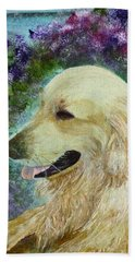 Hand Towel featuring the painting Beautiful Golden by Claire Bull