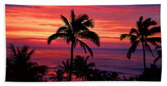 Beautiful Hawaiian Sunset Hand Towel by Michael Rucker
