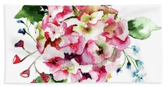 Beautiful Hydrangea Flowers Hand Towel