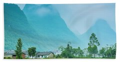 Beautiful Karst Rural Scenery Hand Towel