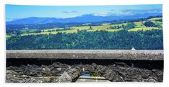 Beautiful Landscape From Vista House Hand Towel