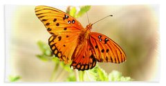 Beautiful Gulf Fritillary Hand Towel by Donna Bentley