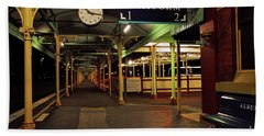 Hand Towel featuring the photograph Beautiful Old Albury Station By Kaye Menner by Kaye Menner