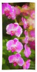 Beautiful Orchids Bath Towel
