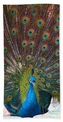 Beautiful Peacock Bath Towel