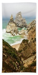 Beautiful Praia Da Ursa In Portugal Hand Towel