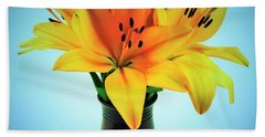Hand Towel featuring the photograph Beautiful Royal Lilies  by Ray Shrewsberry