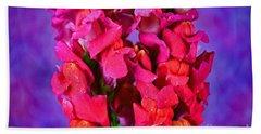 Beautiful Snapdragon Flowers Bath Towel by Ray Shrewsberry
