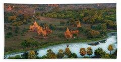 Beautiful Sunrise In Bagan Hand Towel
