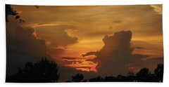 Beautiful Sunset Hand Towel by Debra Crank