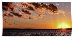 Beautiful Sunset Hand Towel by Doug Long