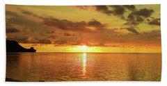 Beautiful Sunsets Guam Hand Towel by Scott Cameron