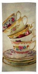Beautiful Tea Cups Hand Towel