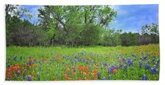 Beautiful Texas Spring Bath Towel