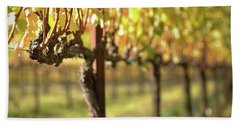 Beautiful Vineyard In Napa Valley Bath Towel