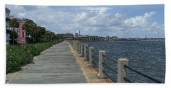 Beautiful Waterfront Walkway Bath Towel