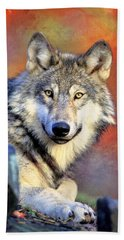 Beautiful Wolf Art Bath Towel