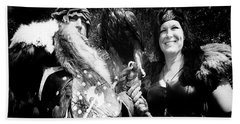 Bath Towel featuring the photograph Beauty And The Beasts by Bob Christopher