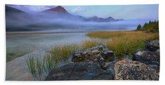 Beauty Creek Dawn Hand Towel by Dan Jurak