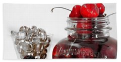 Beauty Of Red Cherries Hand Towel