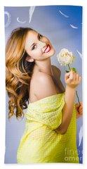 Beauty Of Romance Floating In The Summer Breeze Bath Towel