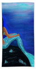 Bath Towel featuring the painting Beauty Of The Isle by Leslie Allen