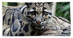 Clouded Leopard Beauty Hand Towel