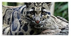 Clouded Leopard Beauty Bath Towel