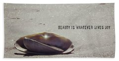 Beauty Star Quote Bath Towel