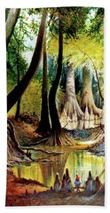 Beaver Dam On Village Creek Bath Towel