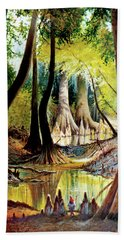 Beaver Dam On Village Creek Hand Towel