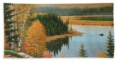 Beaver Pond Lookout Bath Towel