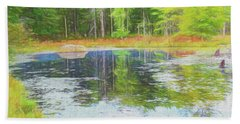 Beaver Pond Reflections Hand Towel