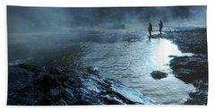 Beaver's Ben Fog Fishing Bath Towel by Tamyra Ayles