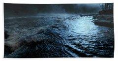 Beaver's Bend Fog Bath Towel by Tamyra Ayles