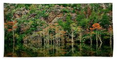 Hand Towel featuring the photograph Beaver's Bend Overlook by Tamyra Ayles