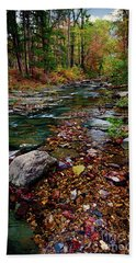 Hand Towel featuring the photograph Beaver's Bend Tiny Stream Vertical by Tamyra Ayles