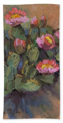 Beavertail Cactus 4 Hand Towel by Diane McClary