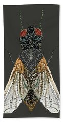Bedazzled Housefly Transparent Background Bath Towel