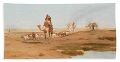 Bedouin In The Desert Hand Towel