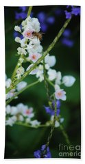 Bee And Wild Flowers Bath Towel