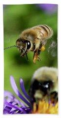 Bee In Flight  Hand Towel