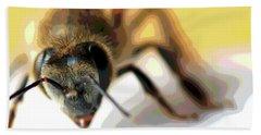 Bee In Macro 5 Bath Towel by Micah May