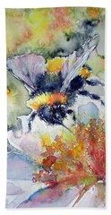 Bee On Flower Hand Towel